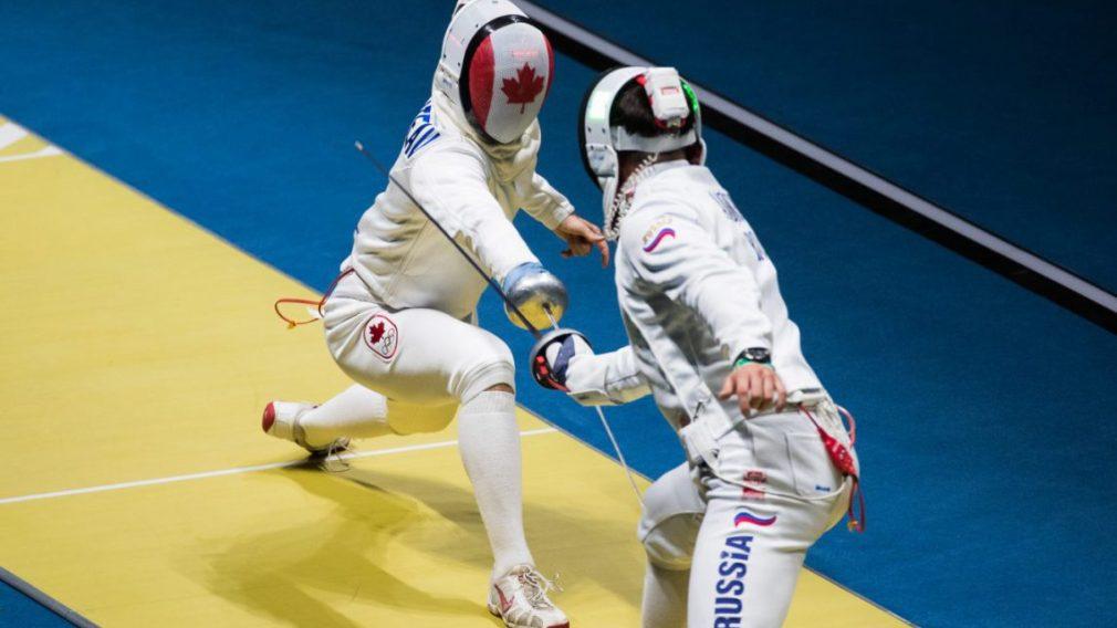 Maxime Brinck-Croteau affronte un athlète de la Russie