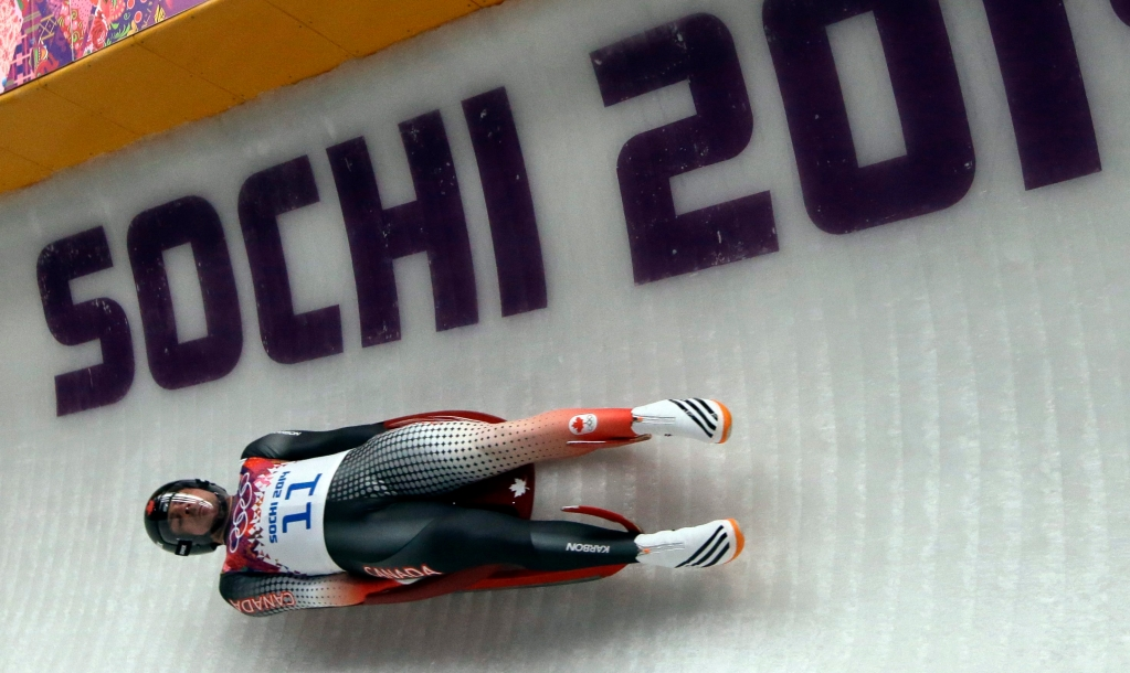 Equipe Canada - Samuel Edney during the men's singles luge final at the 2014 Winter Olympics