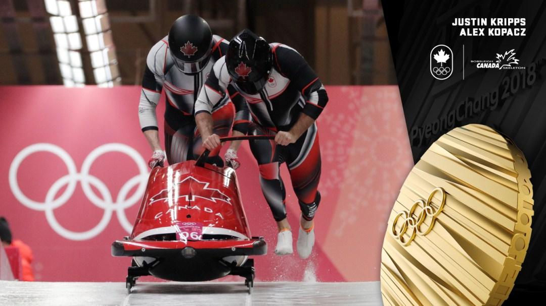 Justin Kripps et Alex Kopacz - Médaille d'or - PyeongChang 2018 - Équipe Canada