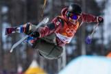 Rosalind Groenewoud lors de la finale de l'épreuve de la demi-lune en ski acrobatique, aux Jeux olympiques d'hiver de Pyeongchang 2018. (Photo: Vincent Ethier/COC)