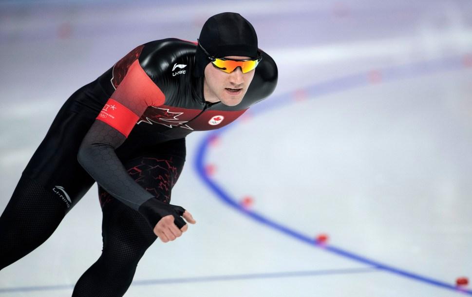 Vincent de Haître patine à l'épreuve du 1500 m masculin. COC Photo by Jason Ransom