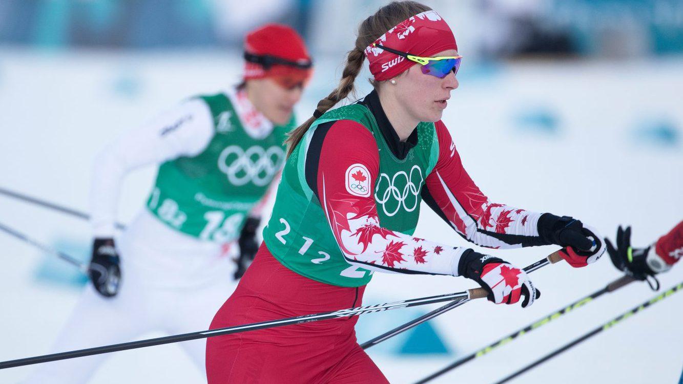 Dahria Beatty en action en ski de fond