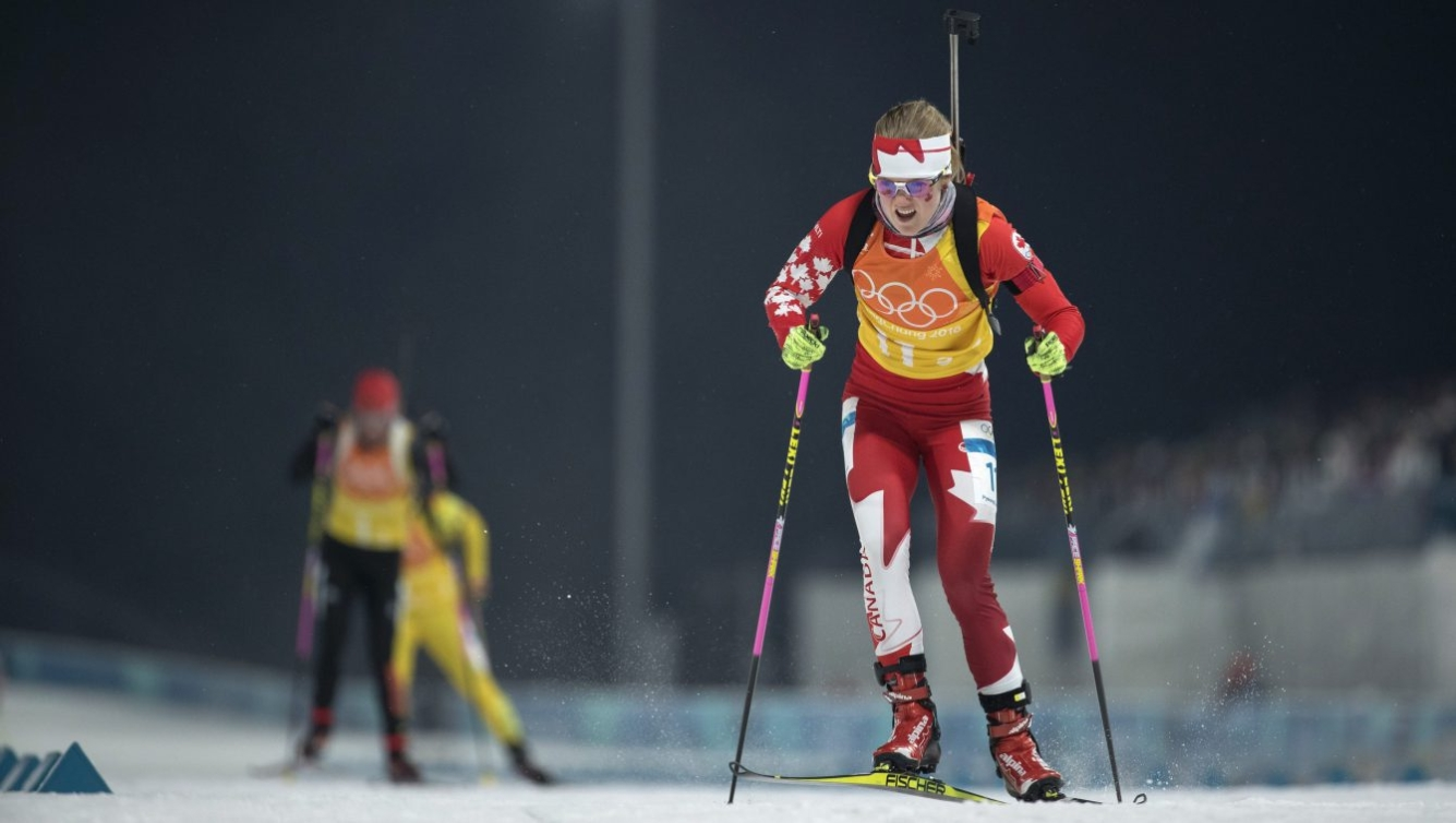 Emma Lunder en ski de fond