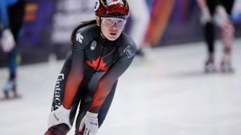 Courtney Sarault reprend son souffle après la course