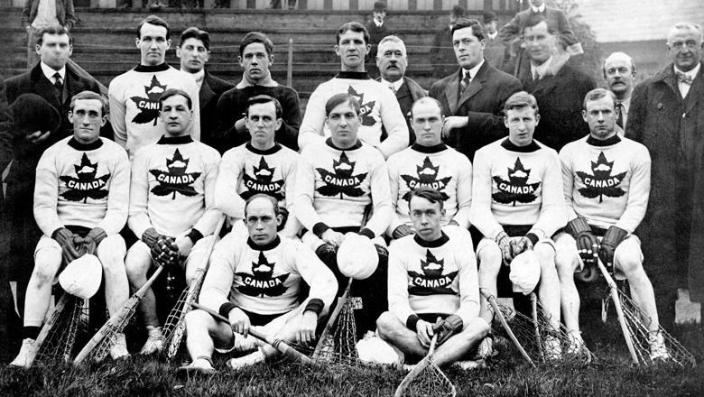 Canada's 1908 men's lacrosse team