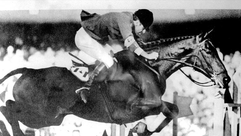 Athlete during equestrian