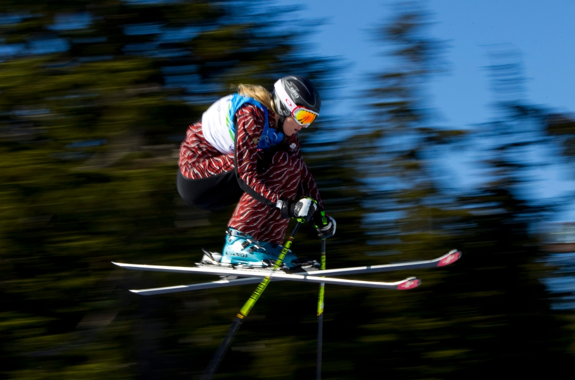 Freestyle Skier mid-air
