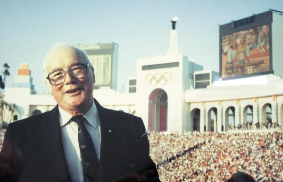 James Worrall at the LA Coliseum