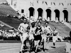 Philip Edwards bronze medal winner in the 800m event at the 1932 Olympic Games in Los Angeles. (CP PHOTO/COC)