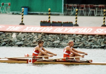 Kay Worthington (left) and Silken Laumann