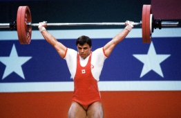Jacques Demers (not the hockey coach) competing at Los Angeles 1984
