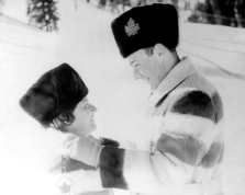 Canada's Barbara Wagner and Robert Paul celebrate their gold medal in the pairs figure skating event at the Squaw Valley 1960 Olympic Winter Games. (CP Photo/COC)