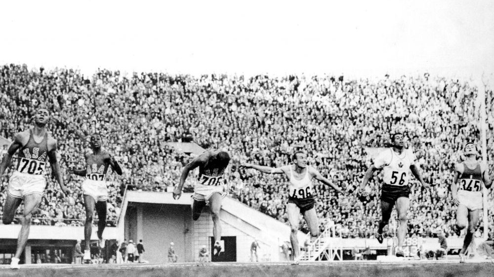 Canada's Harry Jerome competes in an athletics event