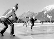 Kathleen Vogt speed skating outside