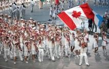 Wide shot of Team Canada walking in Beijing 2009 Opening Ceremony