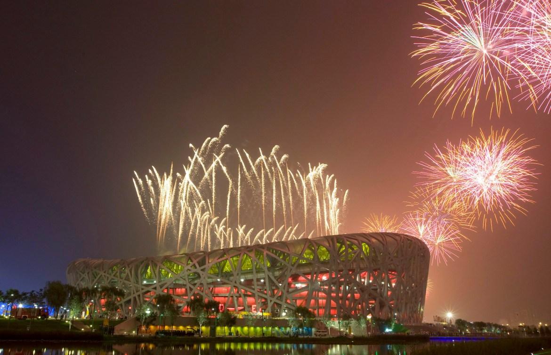 Beijing Olympics 2008 view of stadium