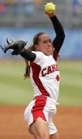 Lauren Regula pitches the ball