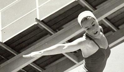 Irene MacDonald executing a dive