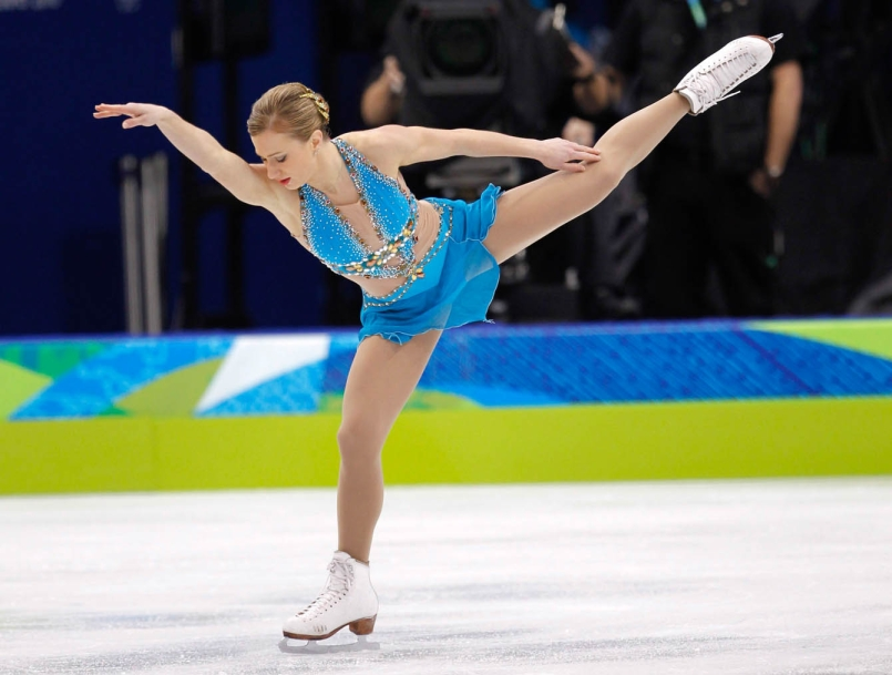Joannie Rochette skates at the Vancouver 2010 Games