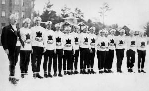 Canada's men's ski team participates at the Lake Placid 1932 Olympic Winter Games. (CP Photo/COC)