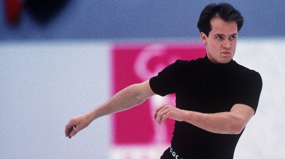 Kurt Browning competes in the figure skating event at the 1994 Lillehammer Winter Olympics