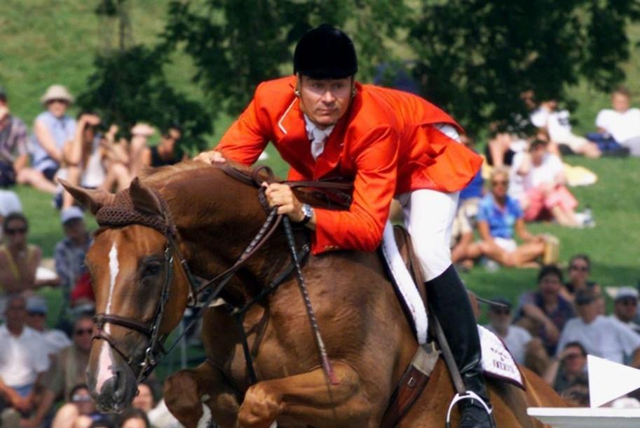 Equestrian rider on horse