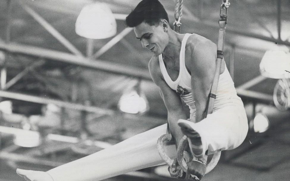 Wilhelm Weiler competing in gymnastics