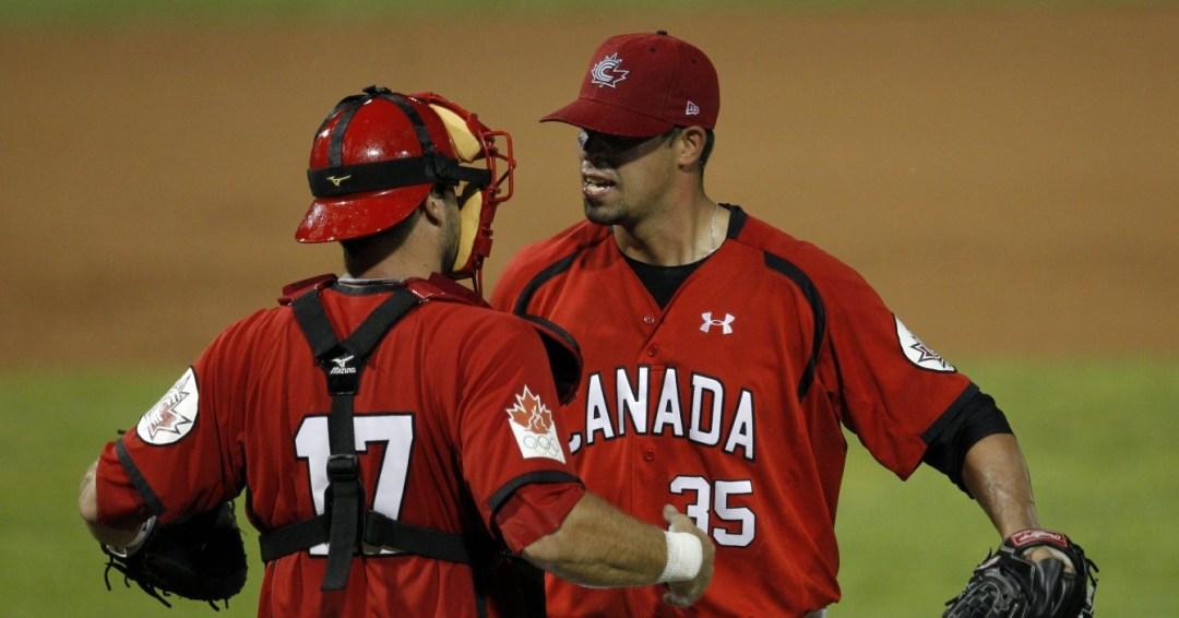 Dustin Molleken embracing catcher