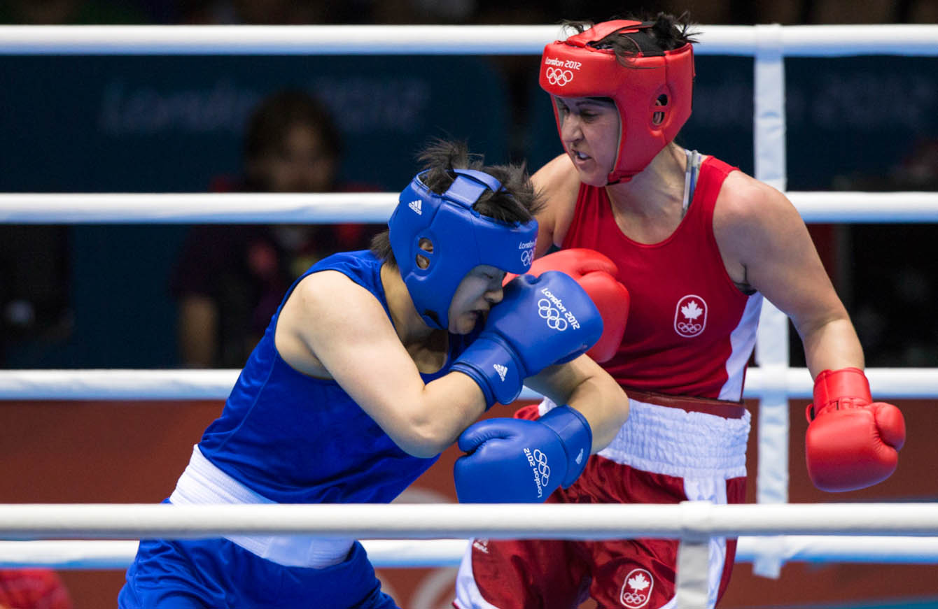 Middleweight Mary Spencer fighting at London 2012 (Photo: CP)