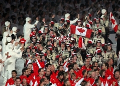 Members of the Canadian Olympic Team march into closing ceremony at BC Place during the Vancouver 2010 Olympic Winter Games in Vancouver, B.C. THE (CANADIAN PRESS)2010(HO-COC-Dave Sandford)