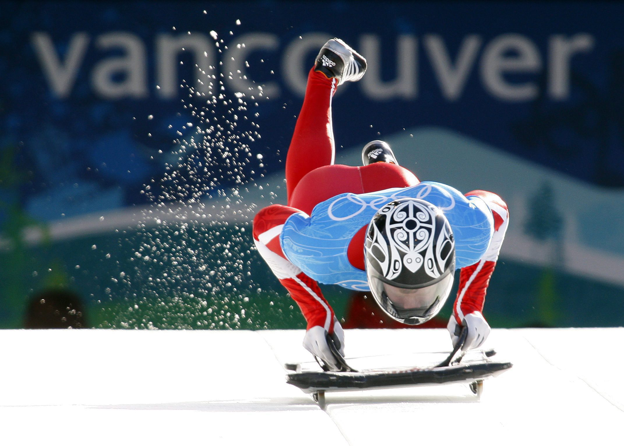Jon Montgomery on his sled