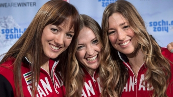 Close up of Dufour-Lapointe sisters smiling