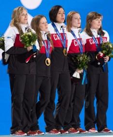 Athletes on the podium