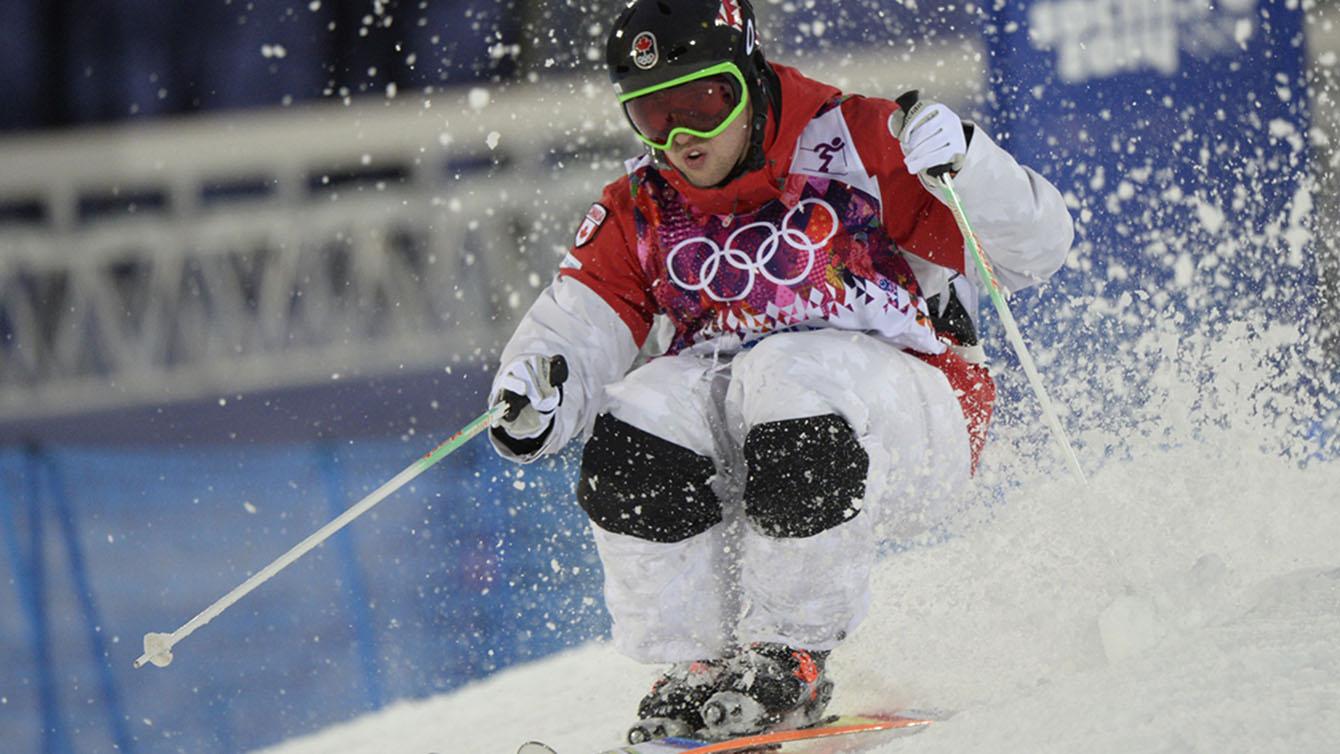 Alex Bilodeau skiing moguls