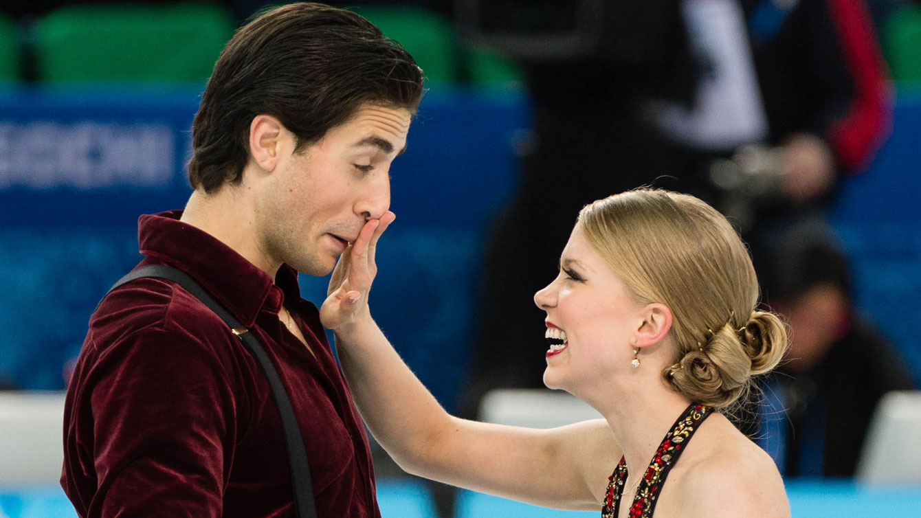 Canadian Olympians Kaitlyn Weaver and Andrew Poje competed in the 2011 NHK Trophy.