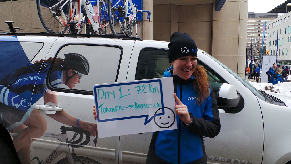 #ClarasBigRide started in Toronto on March 14. After touring the country it will finish in Ottawa on Canada Day July 1.