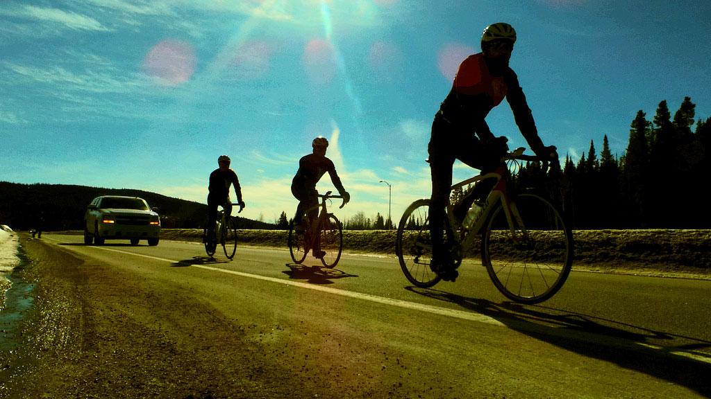 Through 50 days Hughes has logged 5,116 kilometres of Canadian roads.