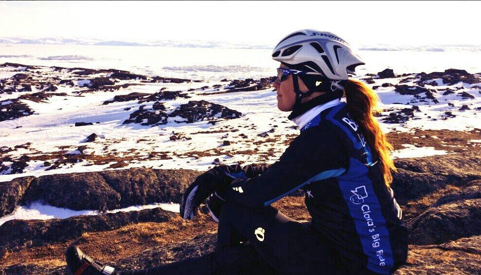 Taking a moment at Frobisher Bay, Nunavut (via Clara Hughes on Twitter: http://ow.ly/wpXNG).