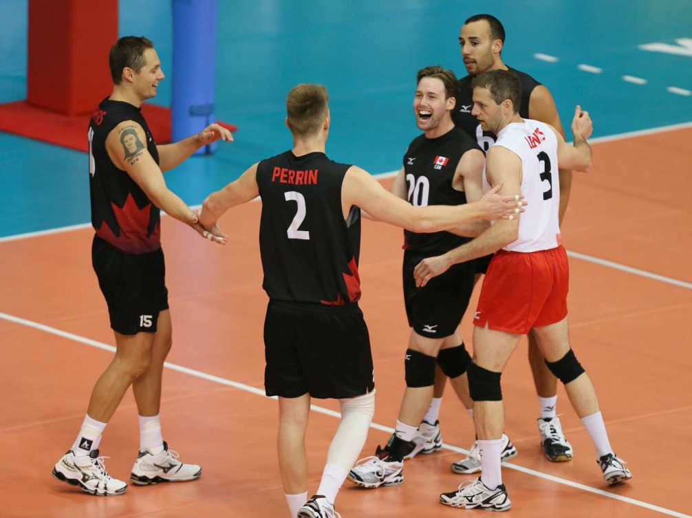 Team Canada celebrating