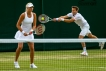 Canada's Daniel Nestor and French partner Kristina Mladenovic at Wimbledon 2014. Photo by Mauricio Paiz via Tennis Canada. Photo: CP