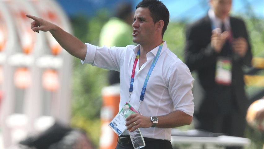 Women's national soccer team head coach John Herdman at London 2012.