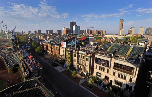 Wrigley Field and Wrigleyville. Photo: CP