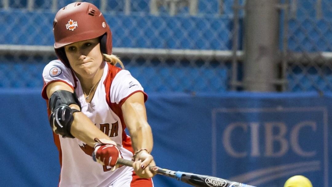 Larissa Franklin swings the bat