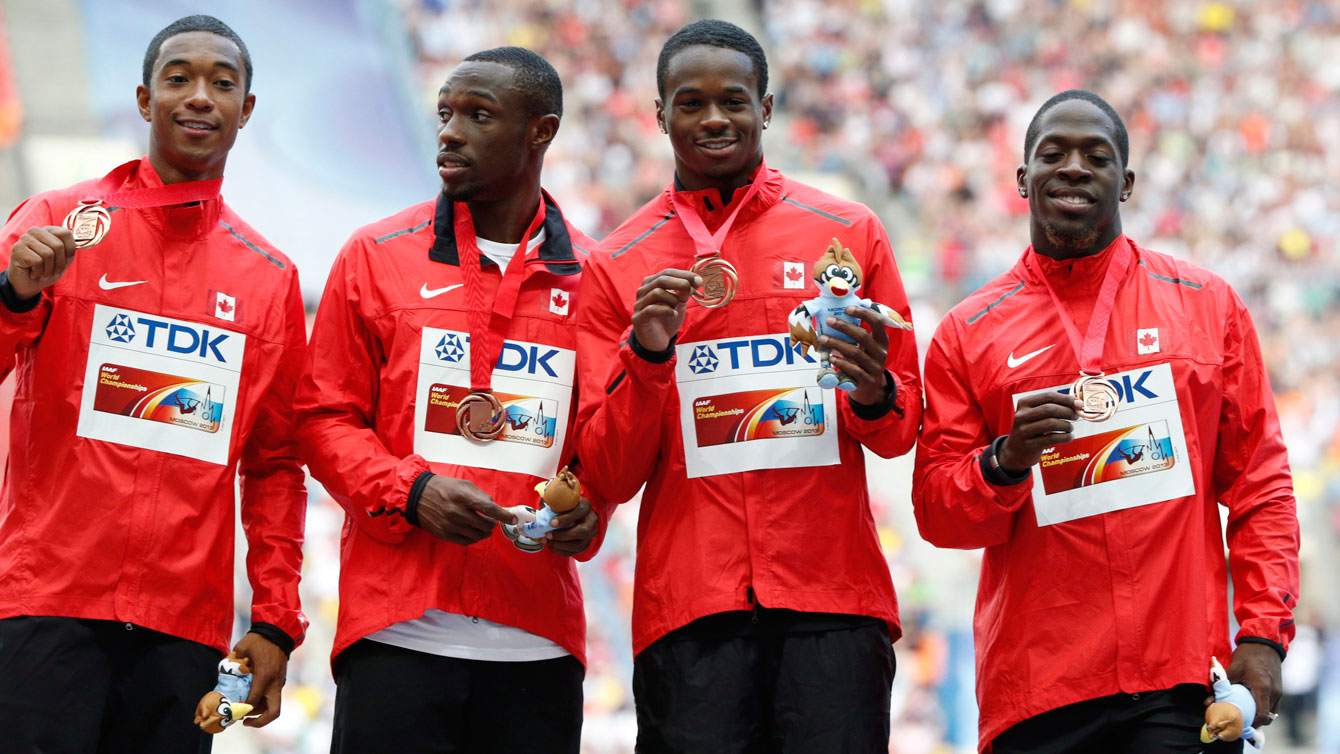Canadian sprinters get a taste of the podium at Moscow 2013, the IAAF World Athletics Championships.