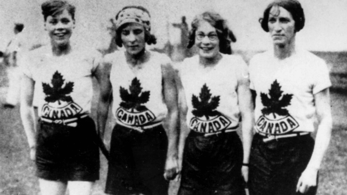 Jane Bell, Myrtle Cook, Ethel Smith, Fanny Rosenfield at Amsterdam 1928, won Canada's only 4x100m women's Olympic gold medal.