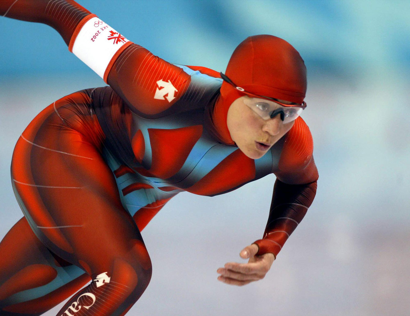 Susan Auch competes at Salt Lake City 2002. (CP PHOTO/HO/COC/Mike Ridewood)