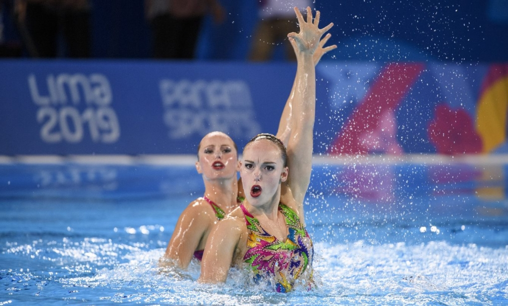 Claudia Holzner and Jacqueline Simoneau swim their duet in Lima