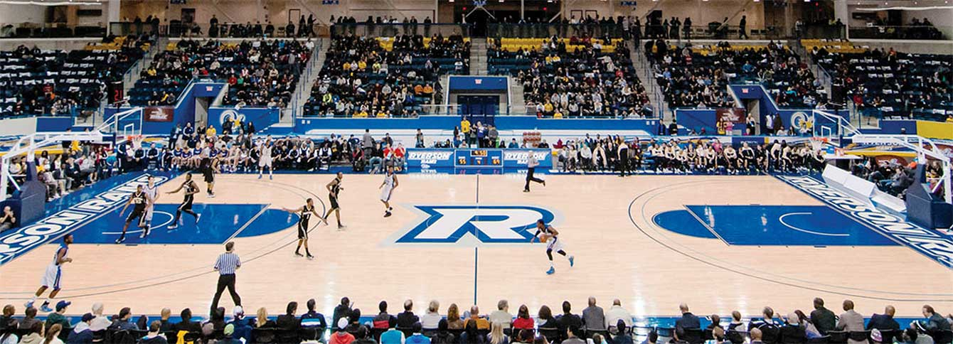 Ryerson Athletic Centre when hardwood replaces ice. Photo: TO2015