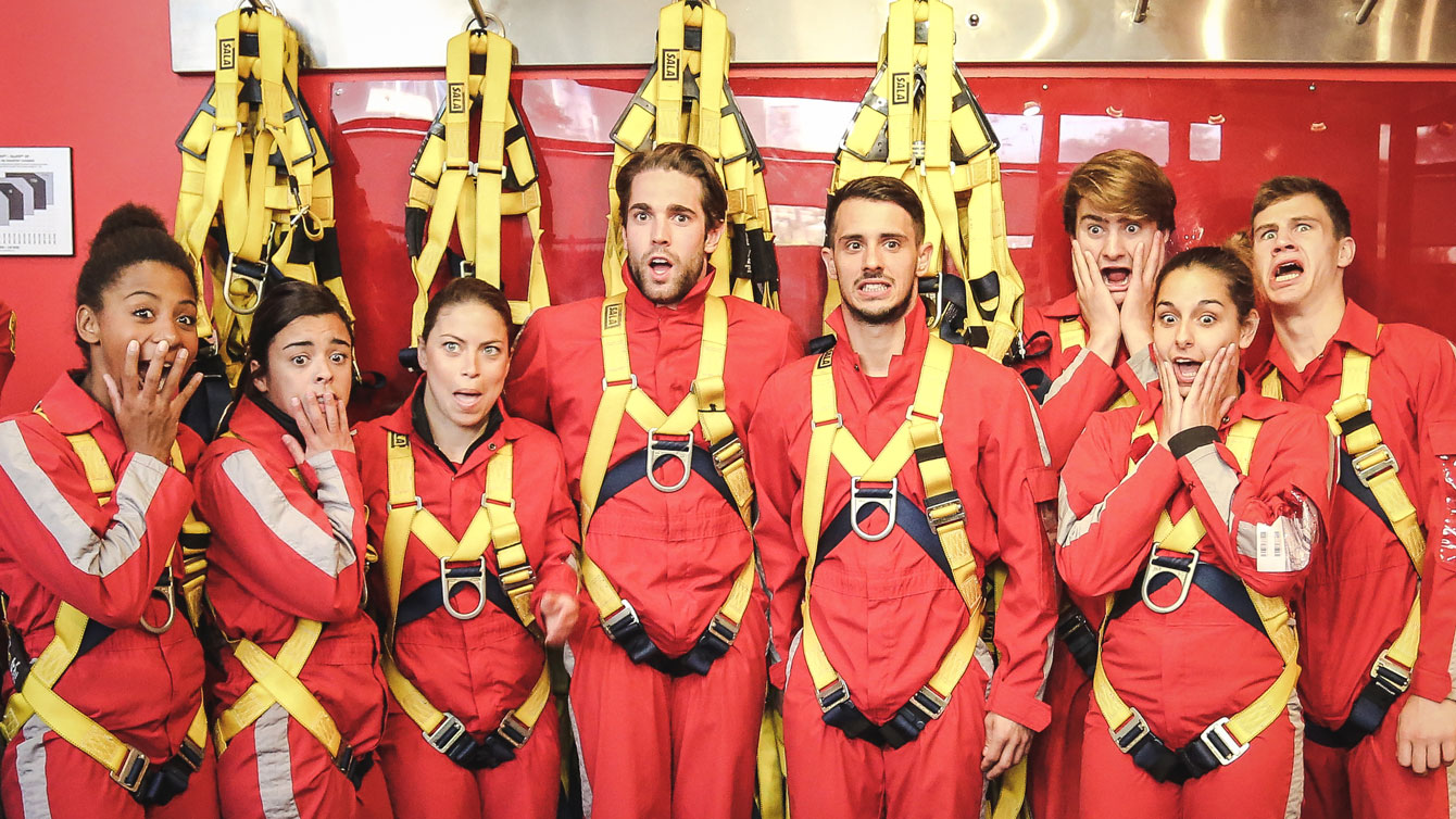 Canadian divers before the EdgeWalk at the CN Tower on June 2, 2015 (Alexandra Fernando).