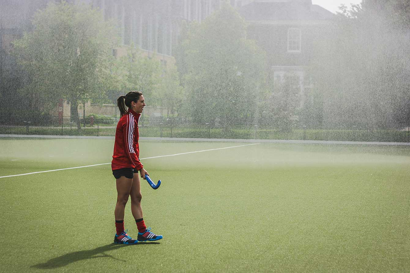 National team vice captain Danielle Hennig warms up on the fields in late May 2015.